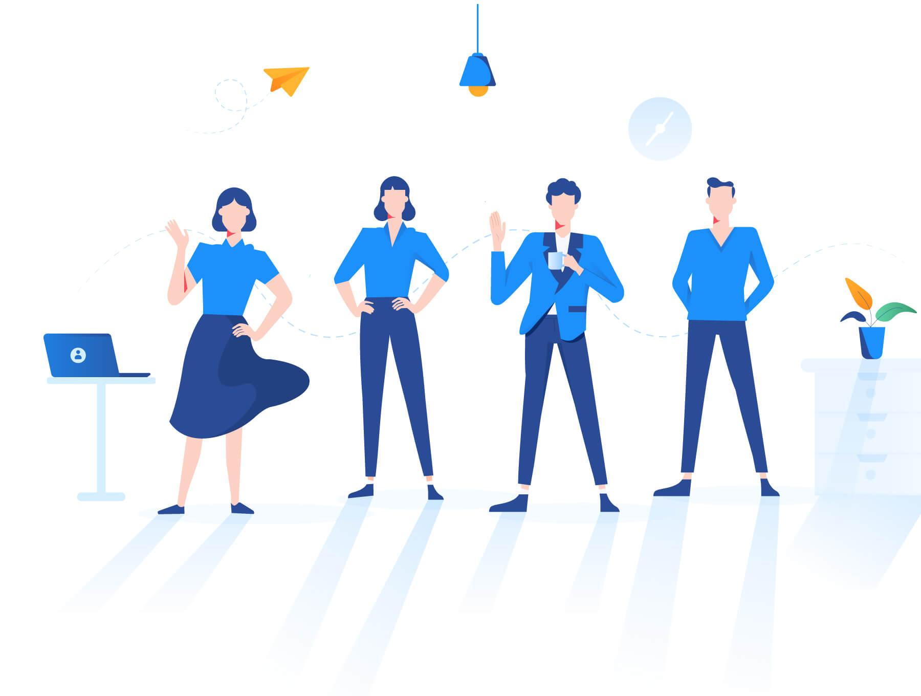 现代企业办公场景插画/移动界面素材下载Illustration Pack插图(3)