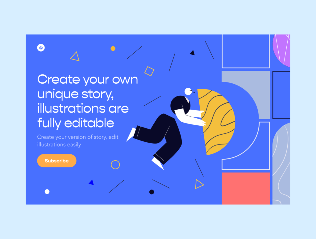 创意插画拼图风格插画素材下载Oliver Illustrations插图(4)