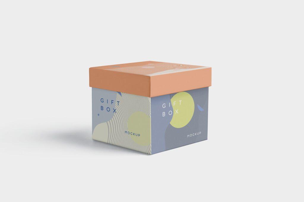5个礼品包装盒/生日礼物模型样机模型效果图5 Attractive Gift Box Mockups插图