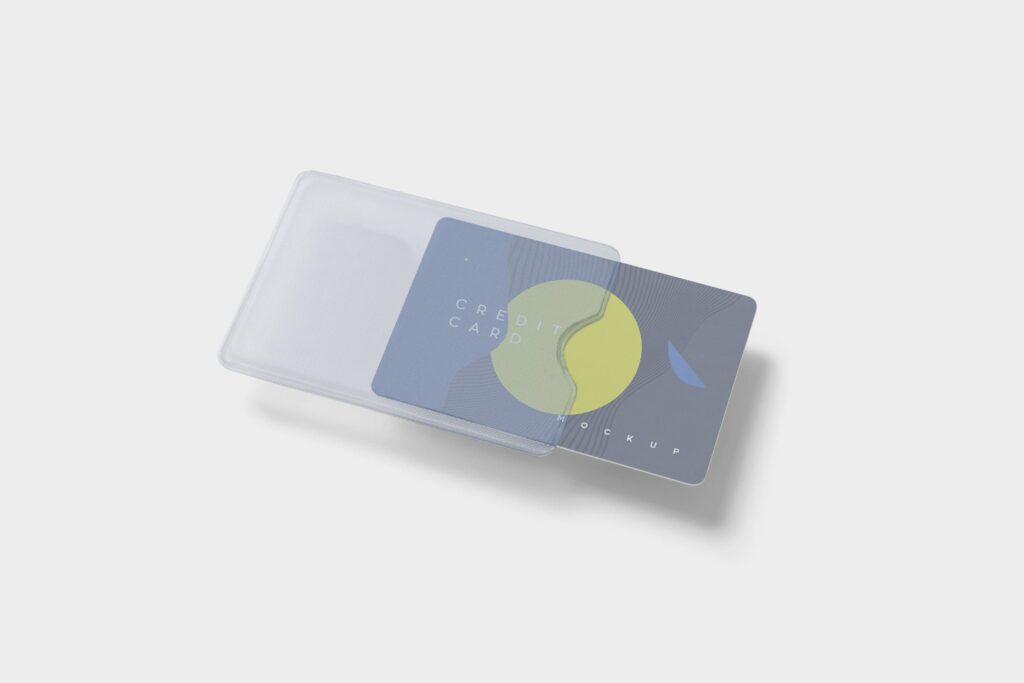 名片包装盒样机模型/信用卡模型样机素材下载5 Credit Card Mockups插图