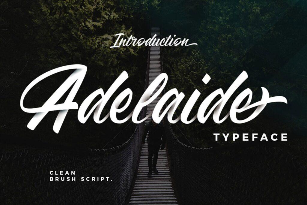 咖啡品牌包装书法风格英文字体下载Adelaide Font插图