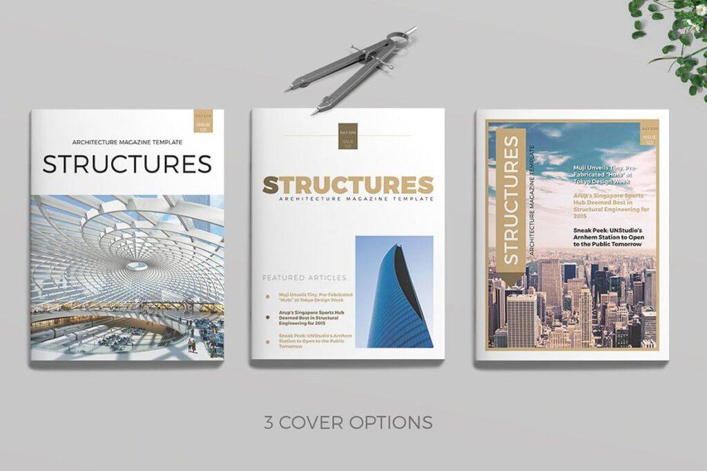 建筑设计/生态空间规划杂志模板Architecture Magazine插图
