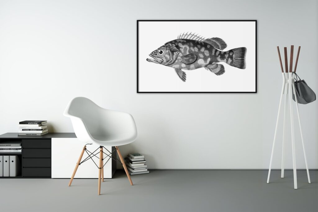 欧美风室内电视背景墙相框样机模型下载Art Wall Mockups Vol2插图