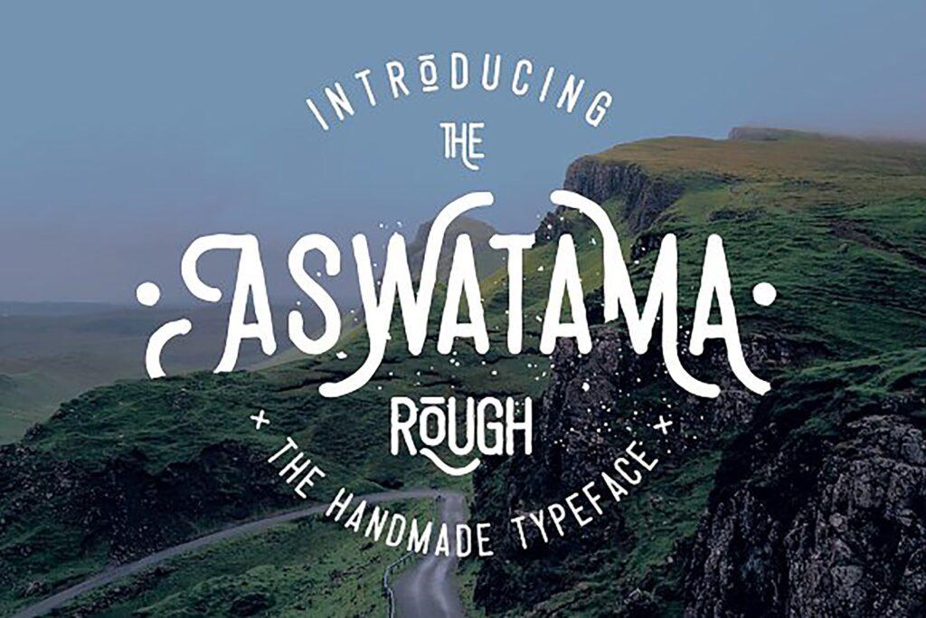 乡村摇滚海报宣传装饰英文手写字体下载Aswatama Rough插图