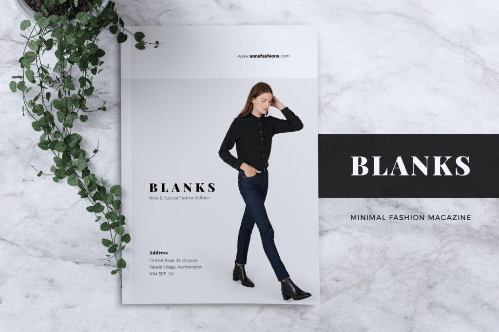 女性时尚服装品牌杂志模板BLANKS Minimal Fashion Magazine插图