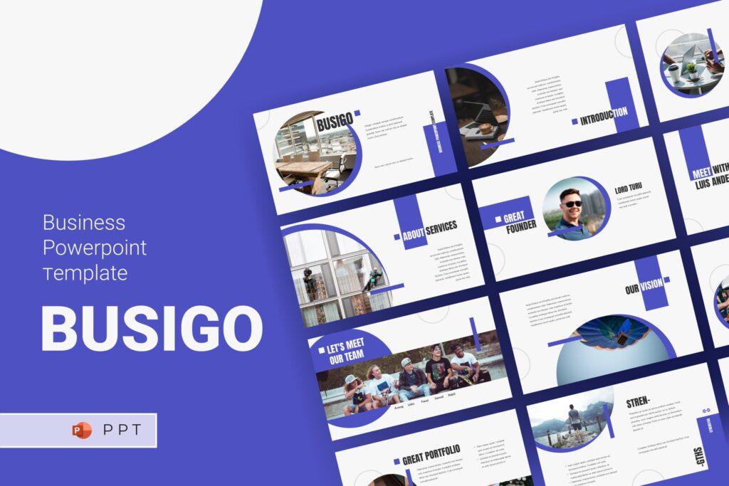 企业招标书宣讲PPT幻灯片模板BUSIGO Business Powerpoint Template插图