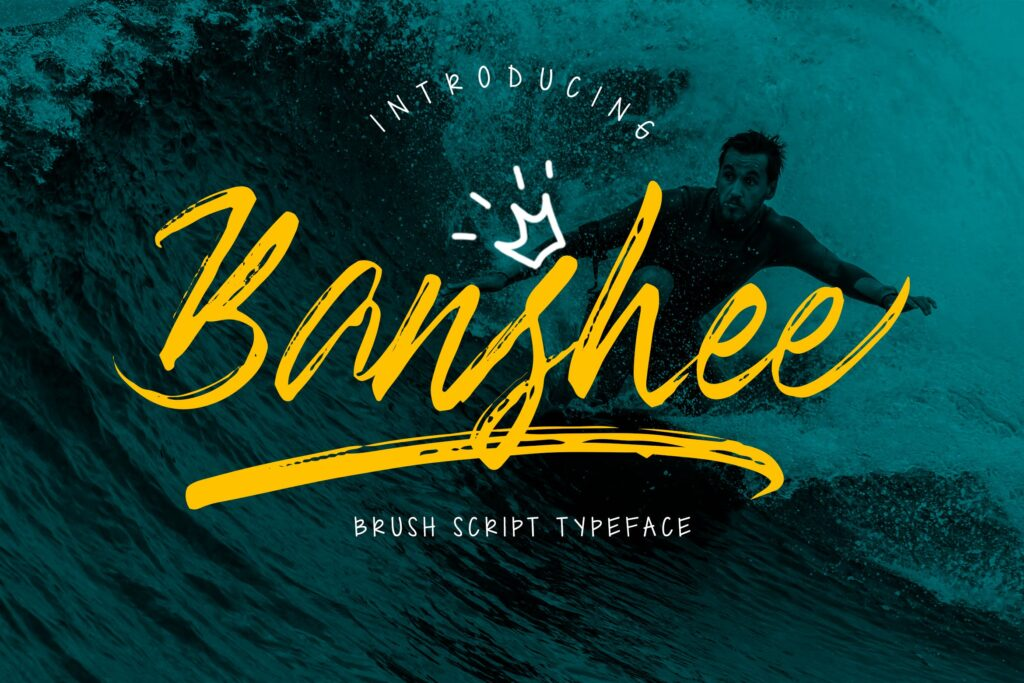 创意干笔刷无衬线英文字体下载Banshee Brush Script插图