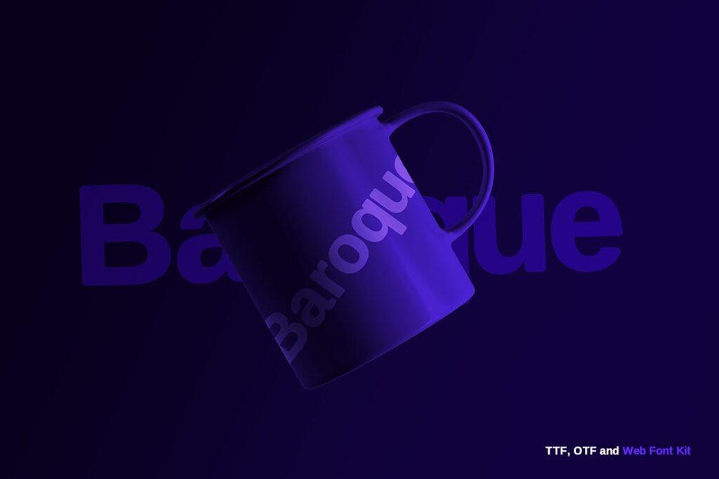 巴洛克风格的字体/品牌包装宣传字体下载Baroque sans Typeface Webfonts插图