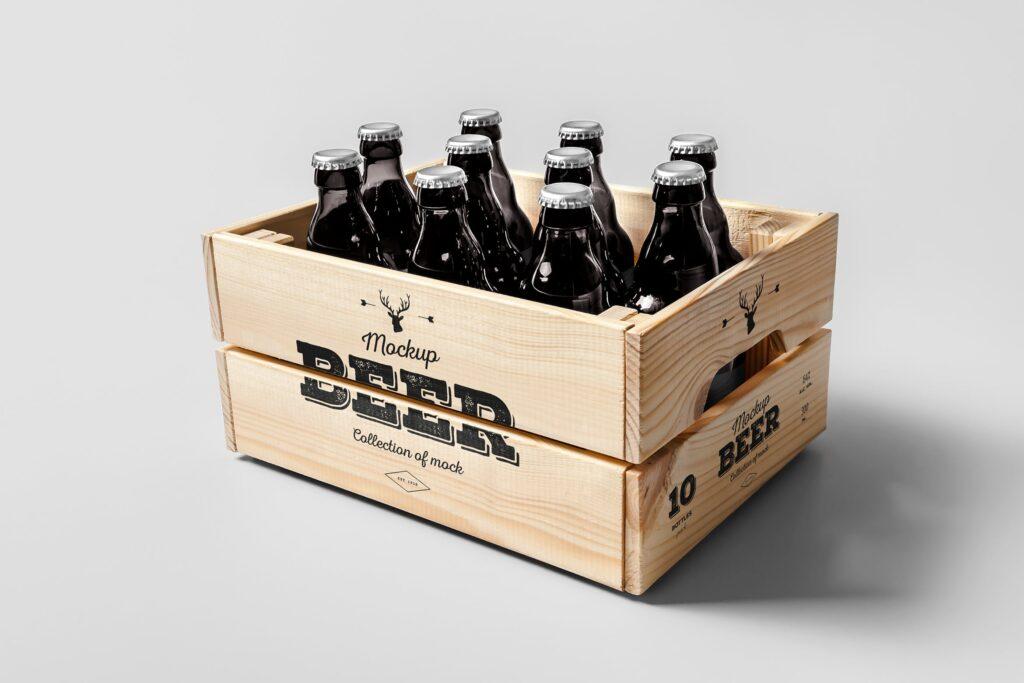 啤酒品牌包装/啤酒瓶包装模型样机模型下载Beer Mockup 2 DV9XAA插图
