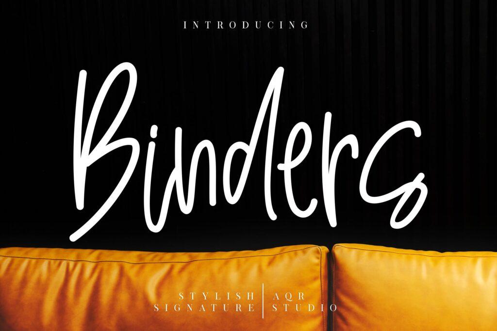 日常文艺书写手写字体下载Binders Stylish Signature插图