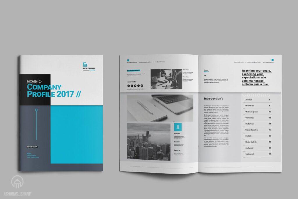 企业简介商务手册历史介绍杂志画册模板Business Profile插图
