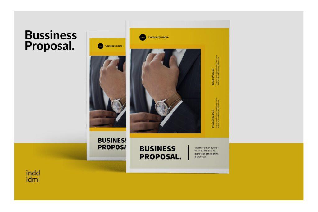 企业商务类画册模板素材画册模板Bussiness Proposal Brochure Company插图