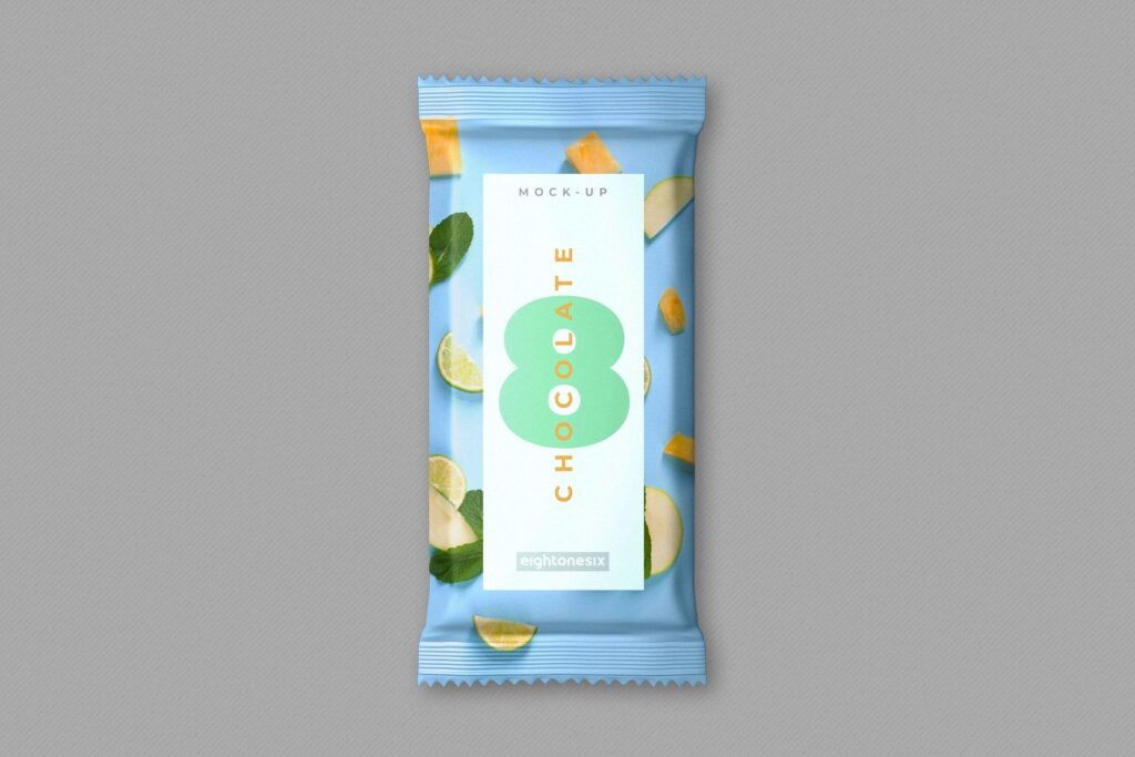 巧克力棒模型包装模板样机下载Chocolate Bar MockUp Template插图