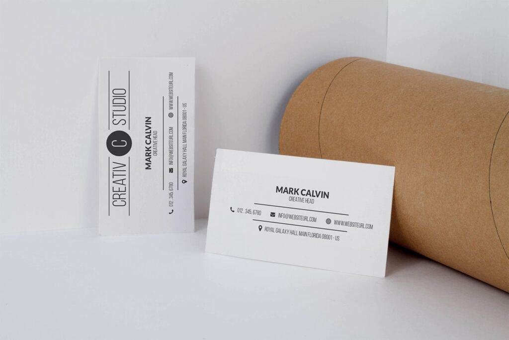 商务简约名片模型样机下载Clean Business Card Mock Up插图