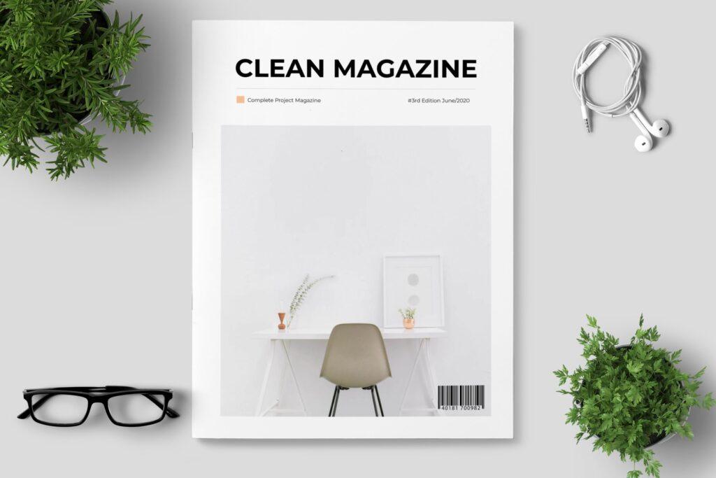简洁优雅时生活方式或销售展示画册模板素材下载Clean Minimal Magazine Design插图