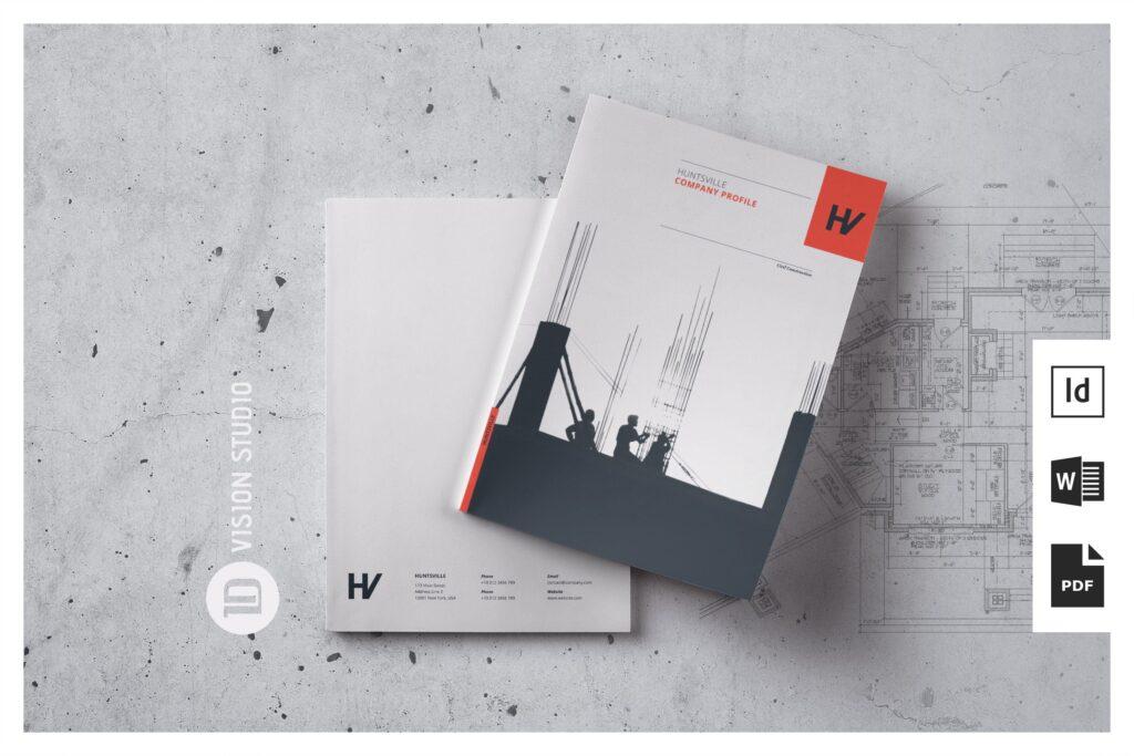 公司动态展示商业手册优雅简洁画册杂志模板Company Profile 001插图