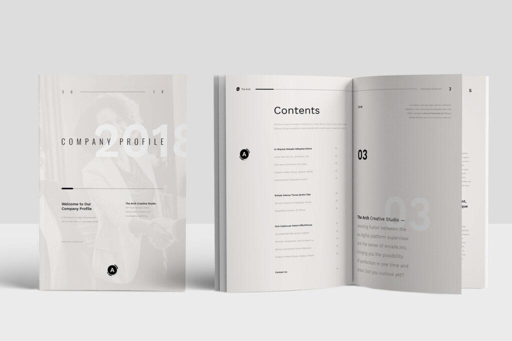 企业产品介绍画册模板素材Company Profile D9JHZJ插图