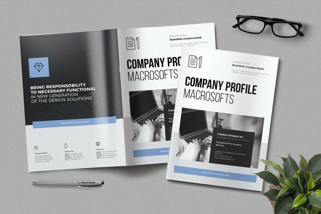 公司简介画册杂志模板素材下载Company Profile YT7HTG插图