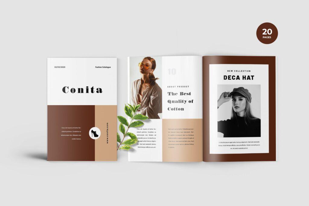 高端服装品牌季节流行单品杂志模版Conita Fashion Lookbook Magazine插图