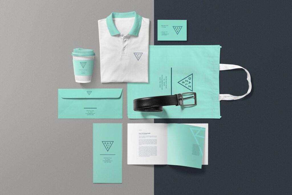 互联网企业品牌办公文具样机模型素材下载Corporate Branding Mockup Scenes插图