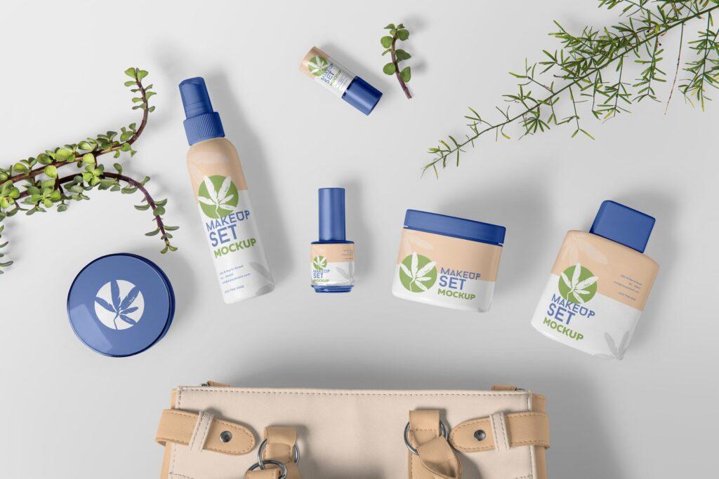 精致化妆品品牌模型样机效果图Cosmetic Branding Mockups插图