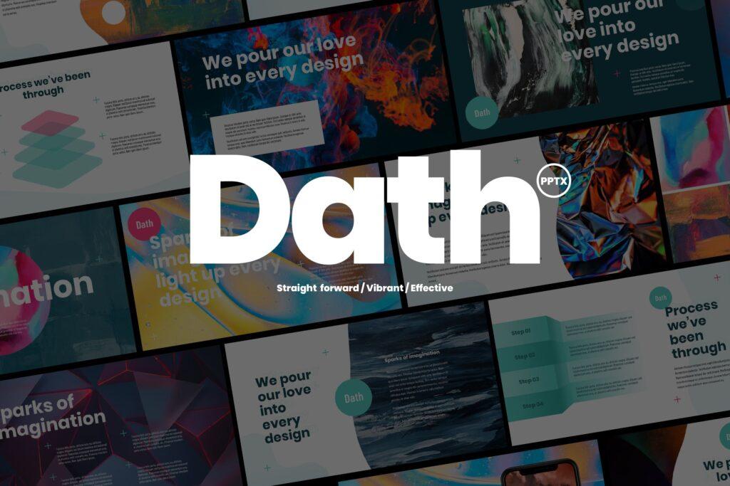 企业年度报告宣讲 ppt幻灯片模版DATH Creative Business Powerpoint插图