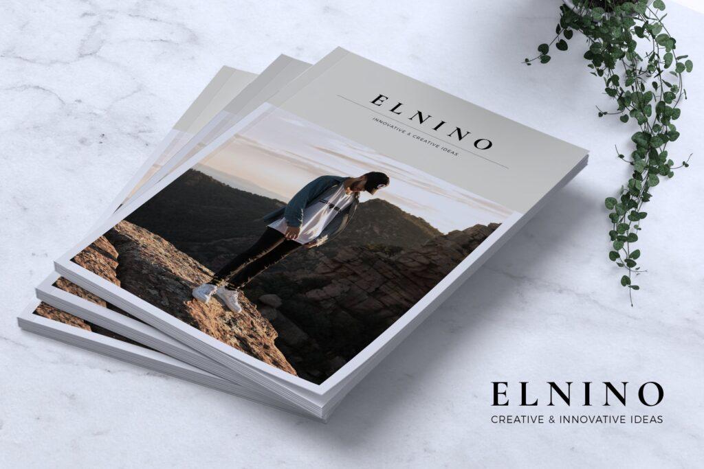 高端企业品牌宣传画册模板ELNINO Minimal Magazine插图
