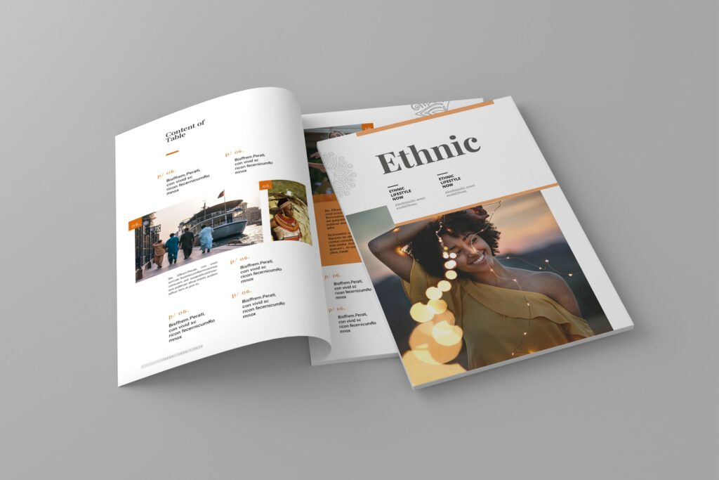 少数民族特色文化主题杂志模板Ethnic Magazine Template插图
