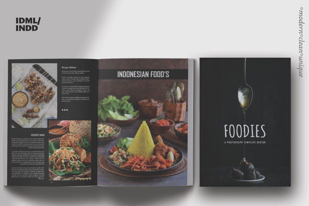 高端美食家餐饮美食料理周刊杂志模板FOODIES Photograph Lookbook插图
