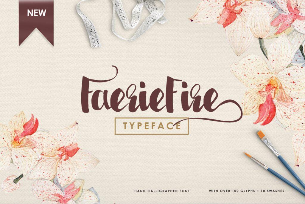 书籍/封面标题英文马克笔手写无衬线字体下载Faeriefire Typeface插图