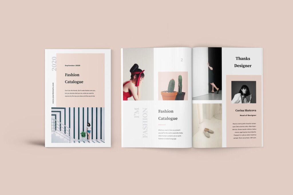 女性时尚服装高端品牌品牌画册模板Fashion Lookbook Catalogue插图
