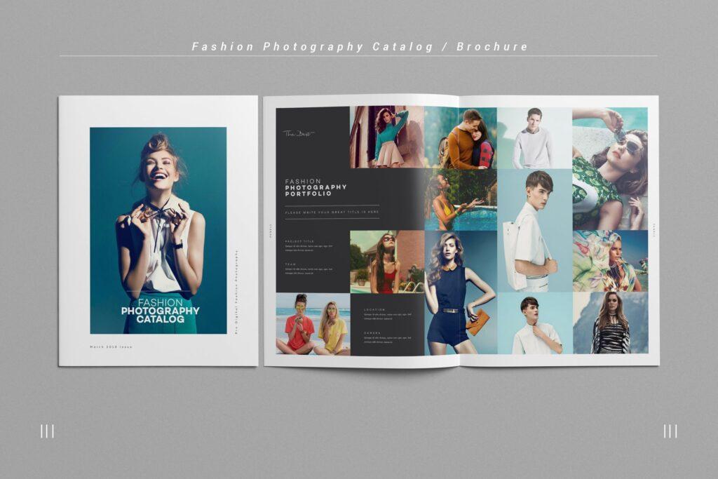 时尚摄影简洁板式画册杂志模板素材下载Fashion Photography Catalog Brochure插图
