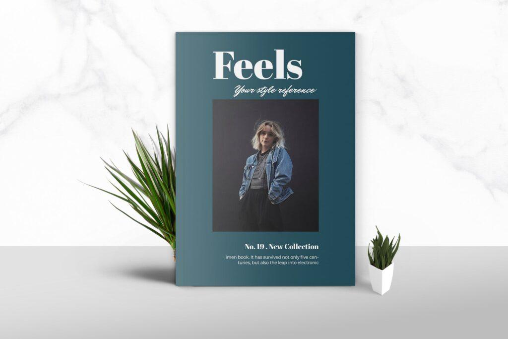 多用途企业产品商务手册模板素材Feels Fashion Magazine Template插图