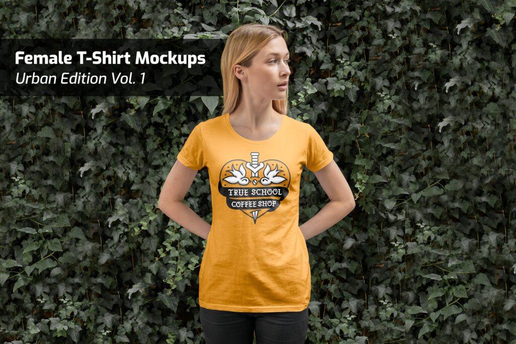 简约女性t恤模型样机素材效果图Female T Shirt Mockups Urban Edition Vol1插图