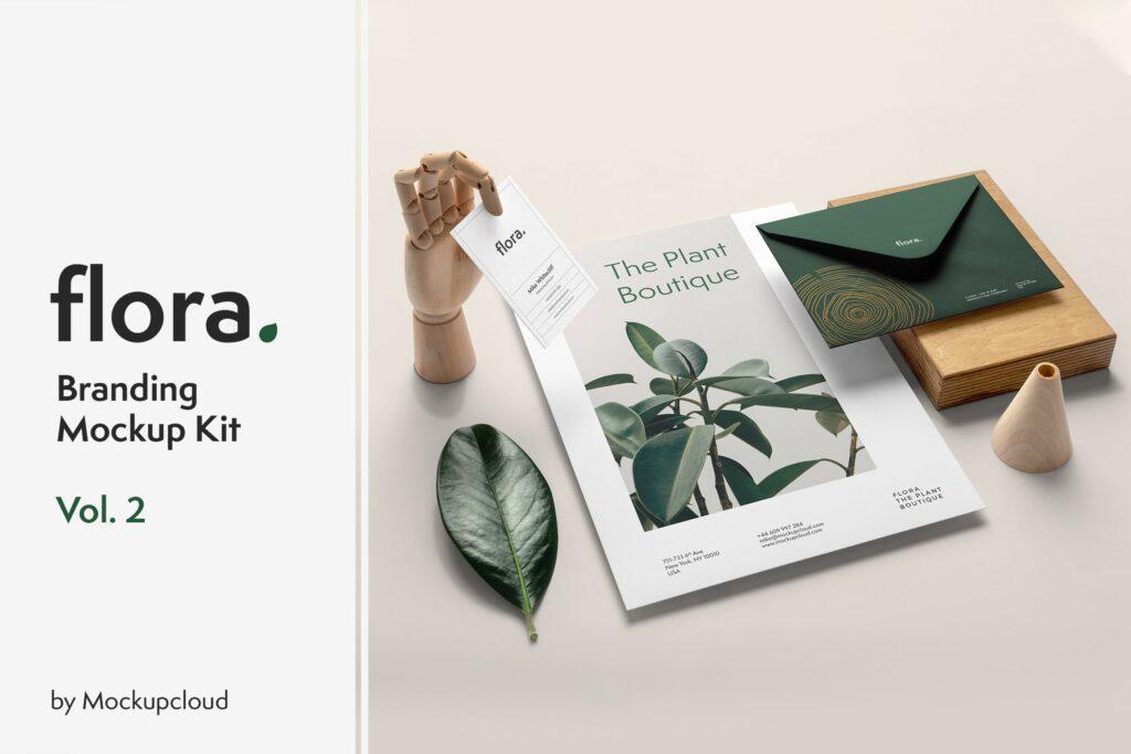 高端优雅品牌识别系统VI模型样机效果图Flora Branding Mockup Vol2插图