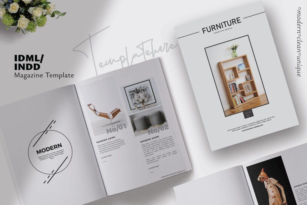 家具设计/室内设计画册杂志模版设计Furniture Collection Lookbook插图