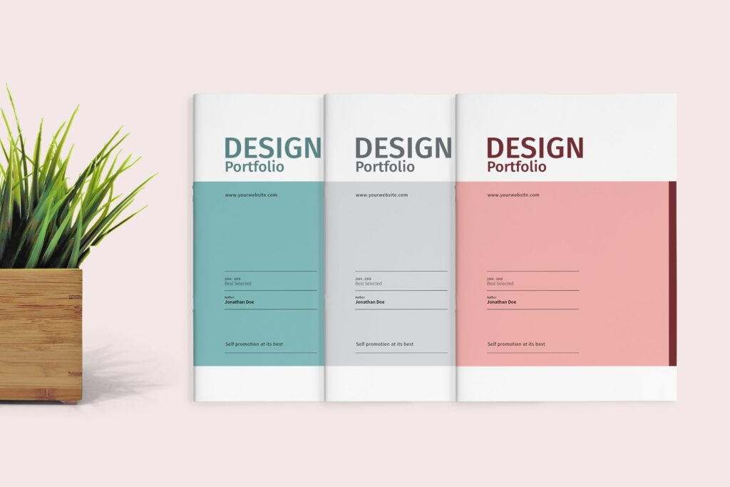精致文艺室内设计画册模版素材Graphic Design Portfolio Template插图
