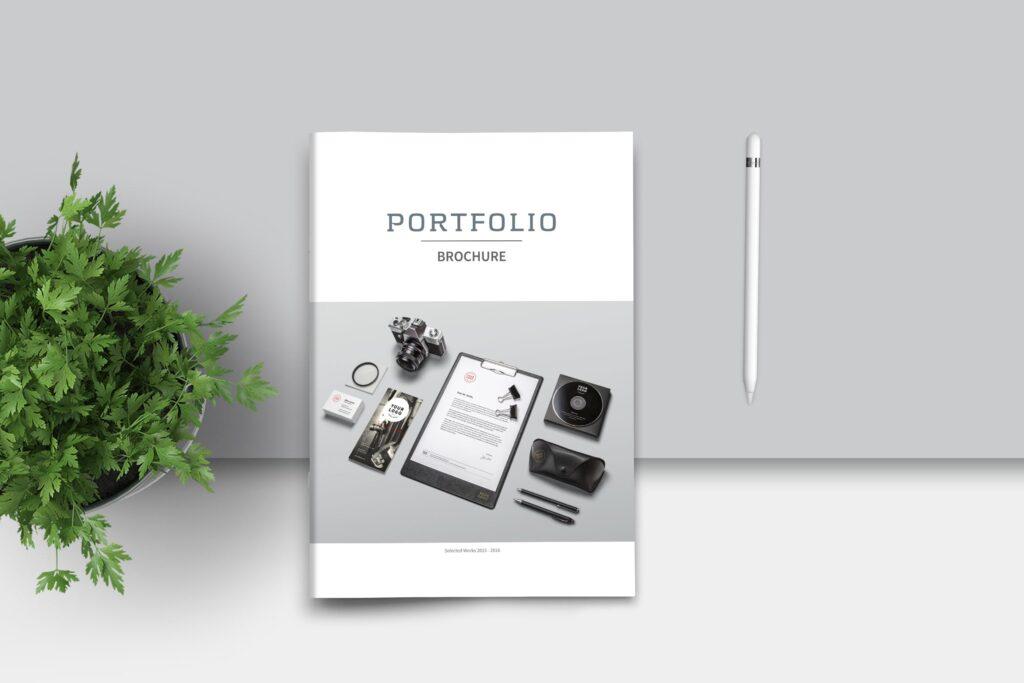 精致文艺平面设计作品集画册模板素材Graphic Design Portfolio Template插图