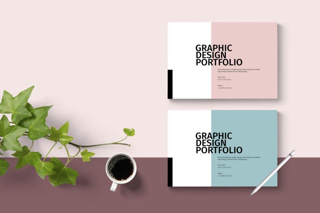设计师工作产品/室内设计/家居设计展示画册模版Graphic Design Portfolio Template插图