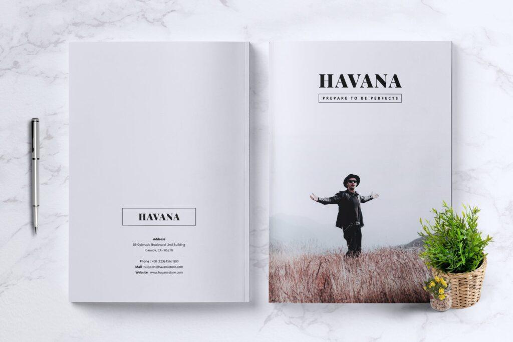 简约风格摄影工作室画册杂志模板HAVANA Minimal Magazine Fashion插图