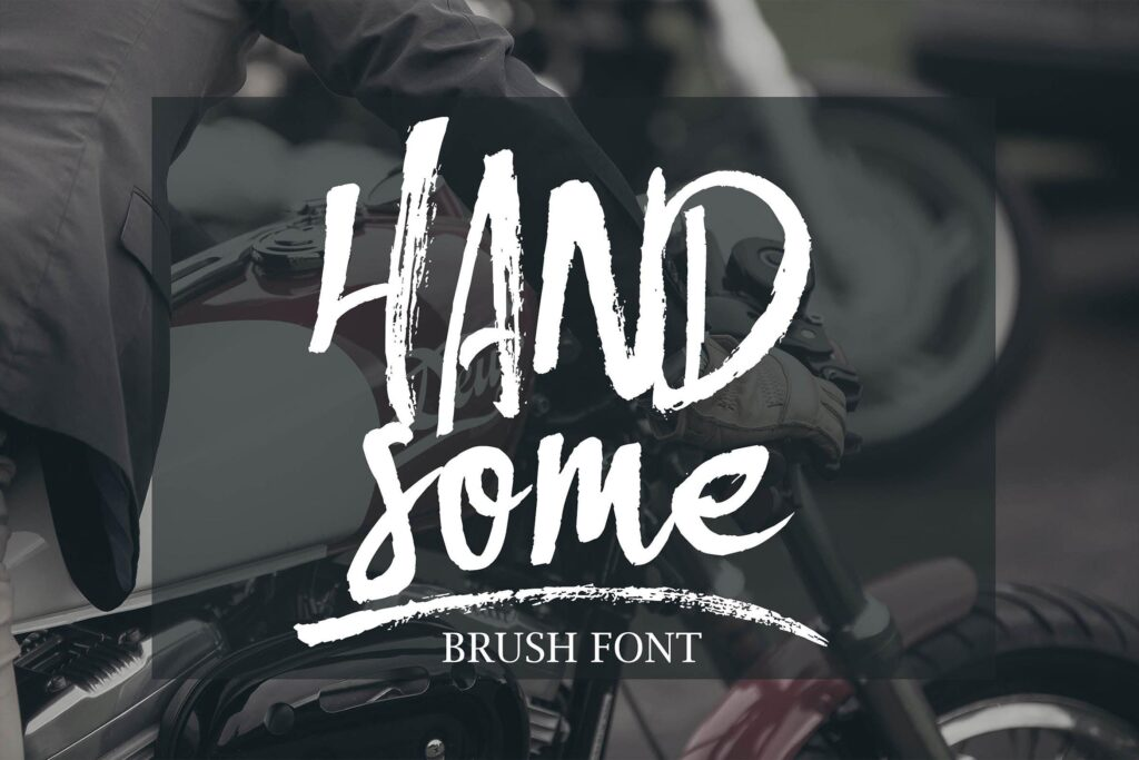 文艺毛笔干画笔英文字体下载Handsome Brush Font插图