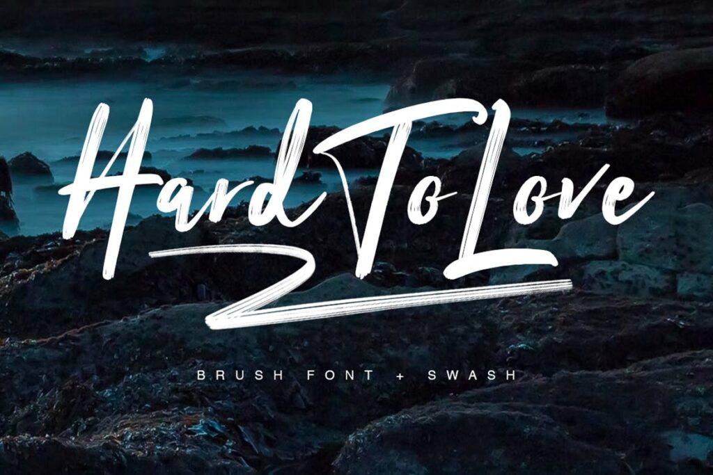 杂志书籍封面文艺英文标题字体下载Hard To Love Typeface插图