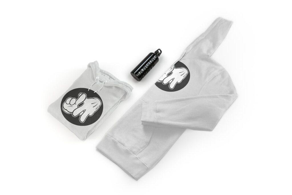 卫衣服装品牌展示样机模型效果图Hoodie Sweatshirt Presentation Mockup插图
