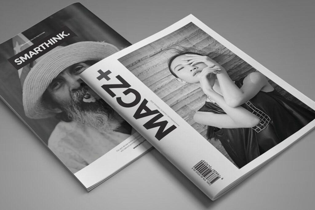 黑白风格历史介绍杂志模版素材InDesign Magazine Template WBM4TW插图