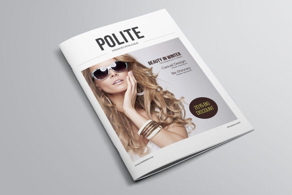 女性时尚用品产品目录画册模板InDesign Product Catalogue Template插图