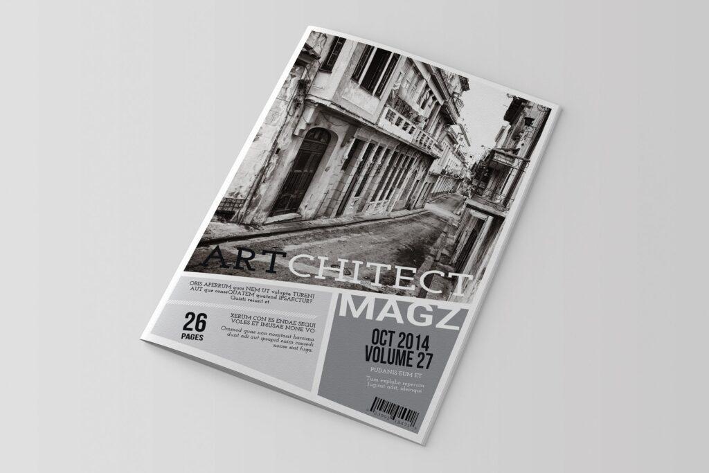 建筑行业/建筑设计作品介绍模板Indesign Magazine Template插图