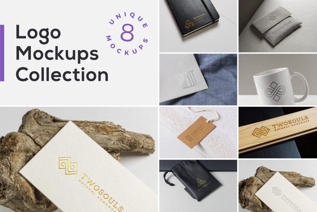 独特标志实物模型集样机展示效果图Logo Mockups Collection Vol2插图