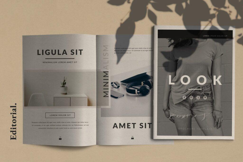 现代简约企业规划书画册模板Lookbook Minimal Brochure Business Company插图