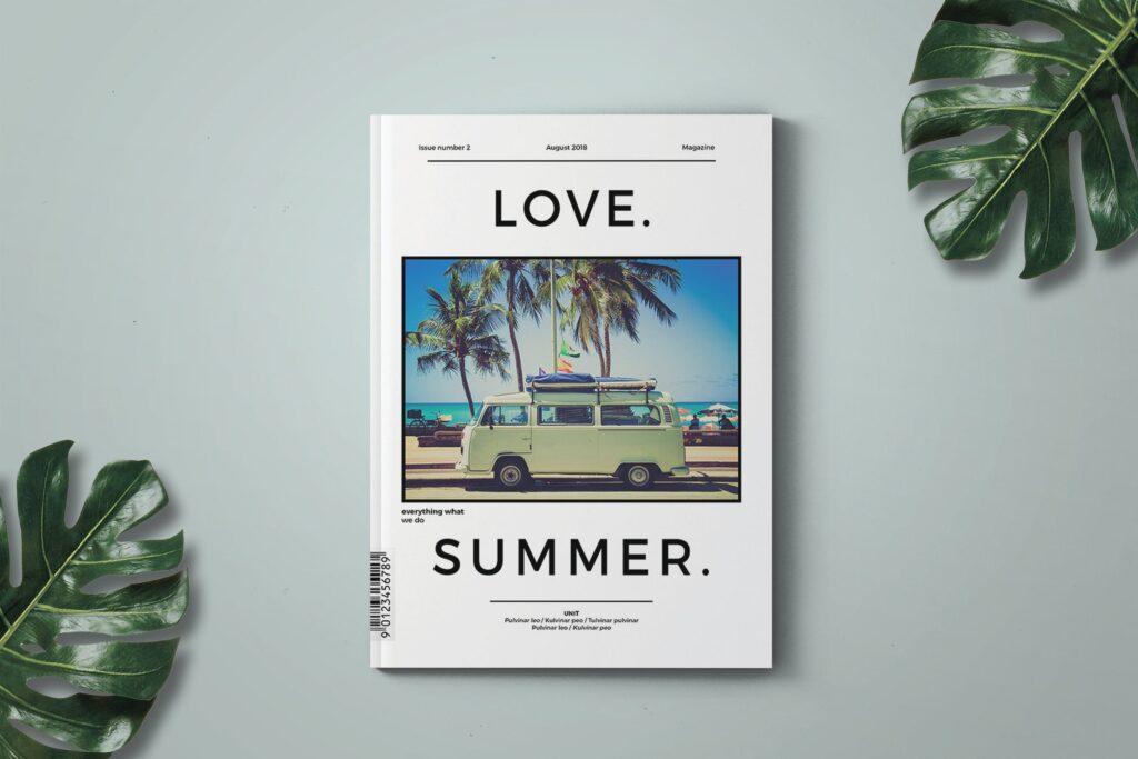 爱情夏日主题/美好生活方式杂志画册模版Love Summer Magazine Template插图