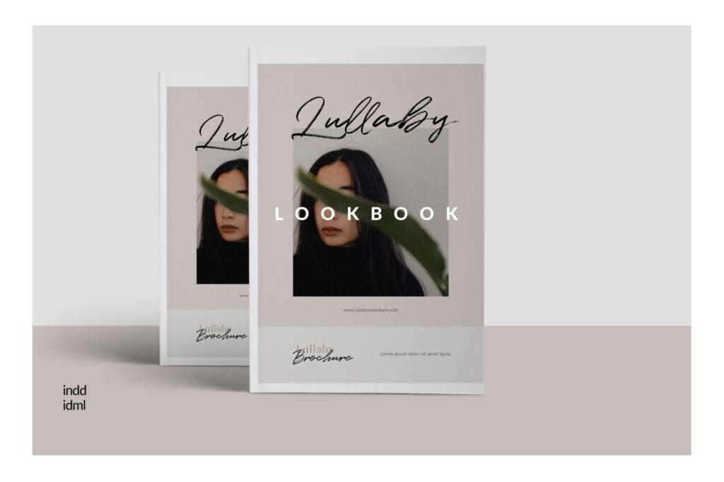 时尚企业产品目录/室内设计案例介绍画册模板Lullaby Lookbook Minimal Portfolio Corporate插图